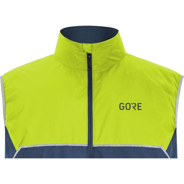 GORE WEAR R7 Partial Gore-Tex Infinium Weste Herren deep water blue/citrus green