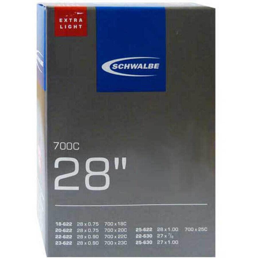 """80mm SV Fahrradschlauch NEU!!! 700C 2x Continental Race 28/"""" Schlauch 23-622"""