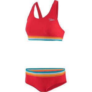 speedo Solid U-Back Zweiteiler Damen lava red/orange fizz/mango lava red/orange fizz/mango