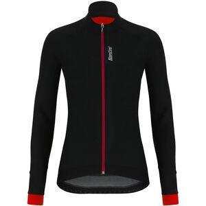 Santini Stella Windproof Jacke Damen black/red black/red