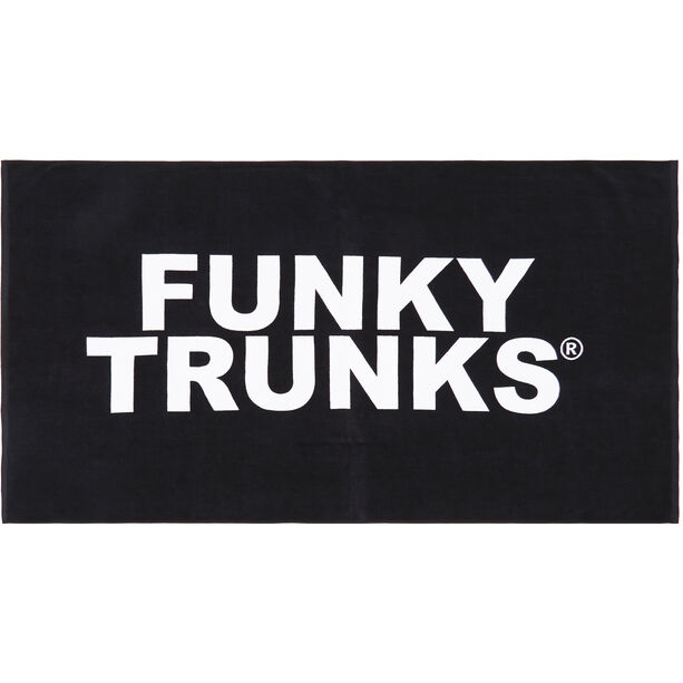 Funky Trunks Towel still black
