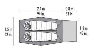 Liegefläche in einem Zelt für 2 Personen